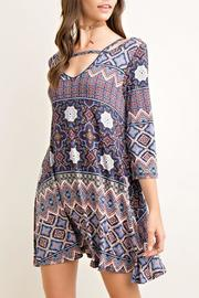 Entro Printed Tent Dress - Front full body