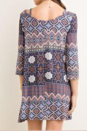 Entro Printed Tent Dress - Back cropped