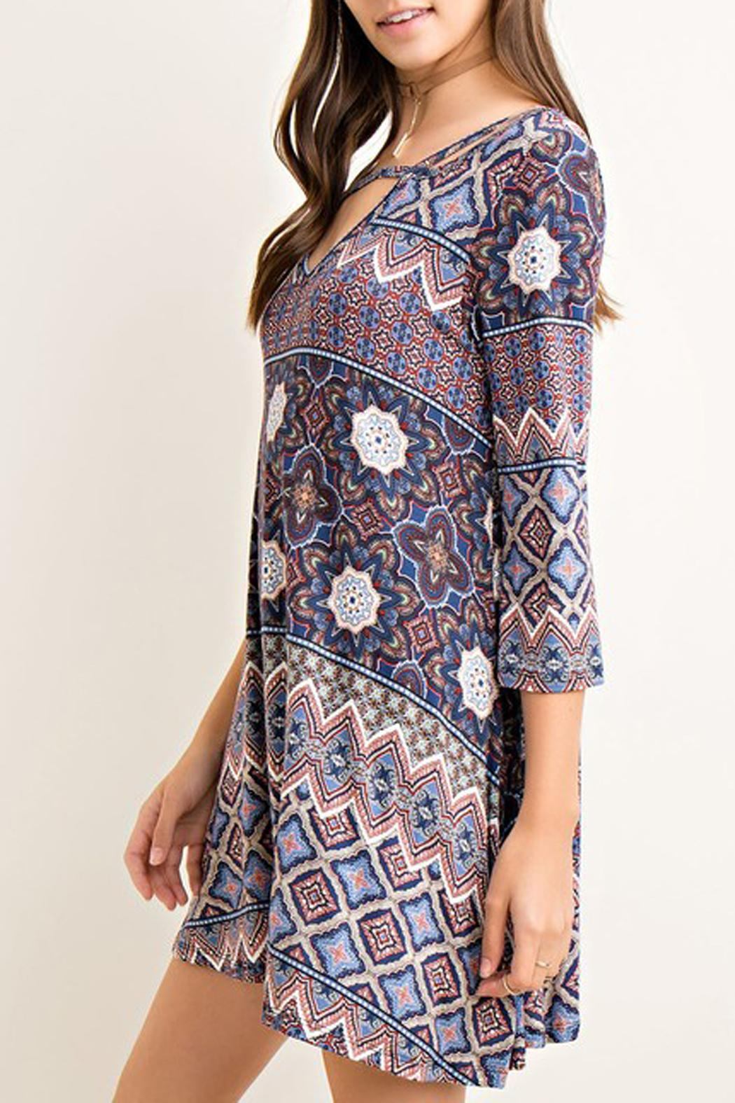 Entro Printed Tent Dress - Side Cropped Image