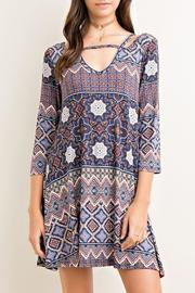 Entro Printed Tent Dress - Front cropped