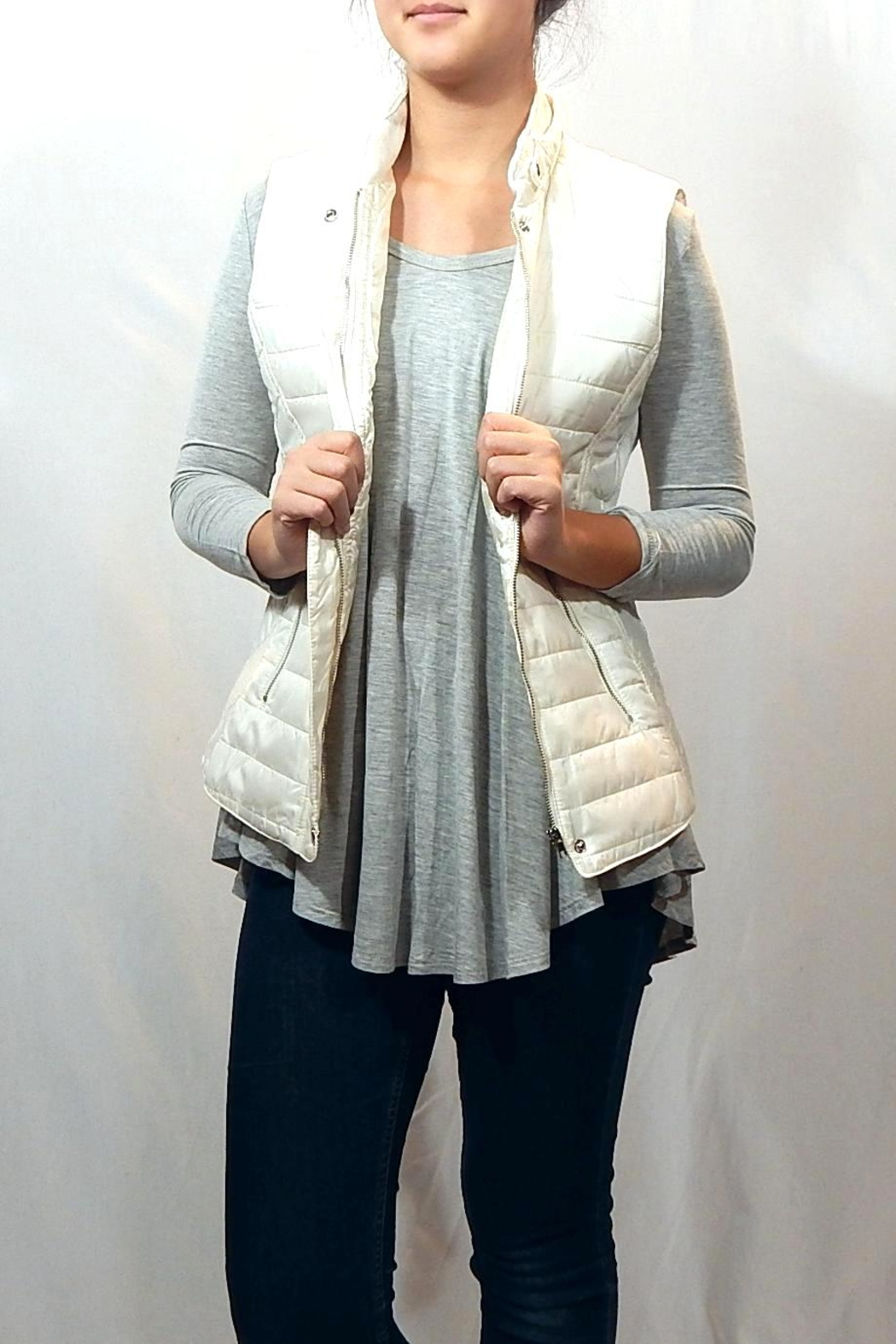 Entro Quilted High Neck Vest - Main Image