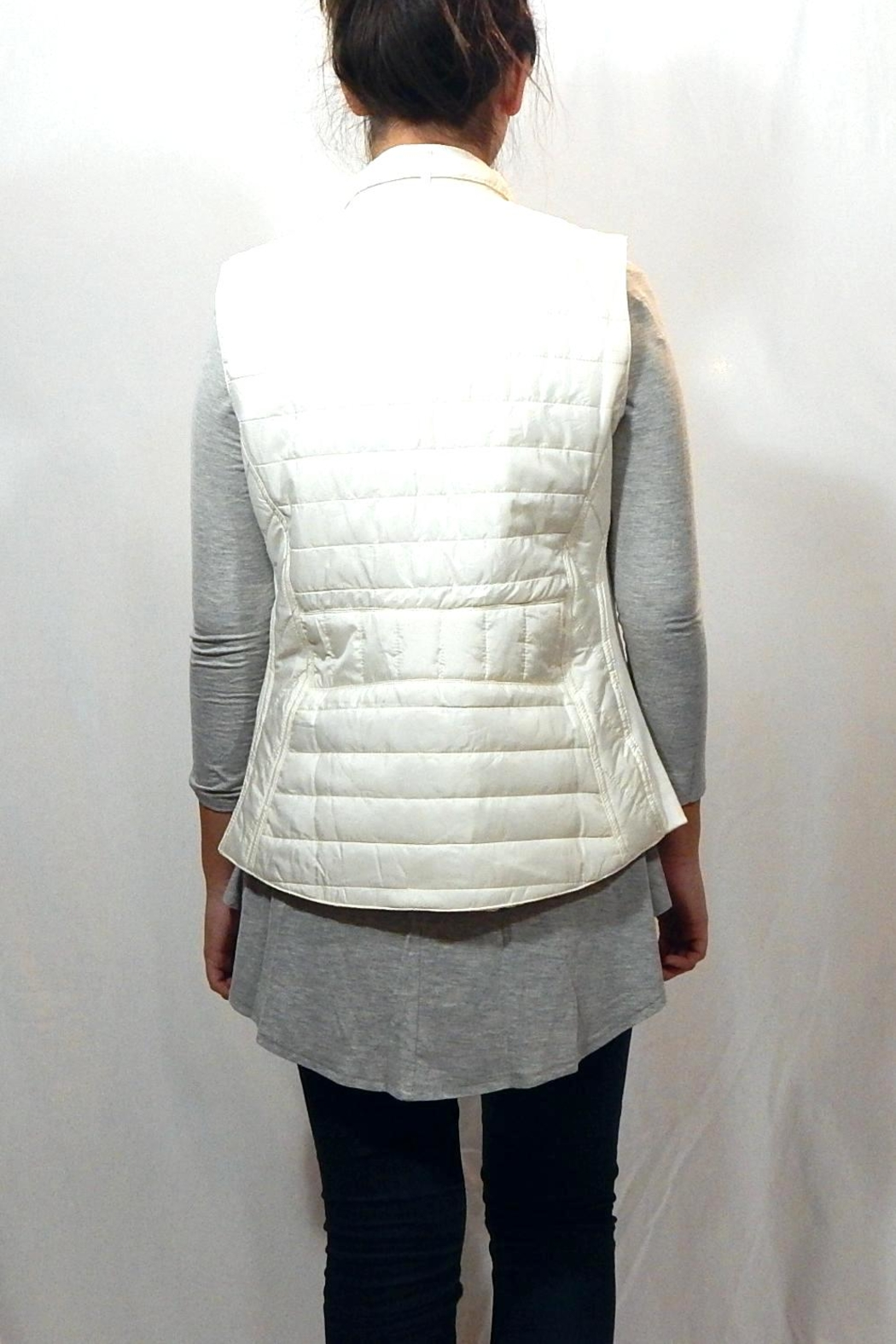 Entro Quilted High Neck Vest - Side Cropped Image