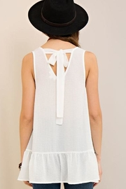 Entro White Rebecca Top - Front full body