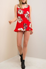 Entro Red Floral Romper - Product Mini Image
