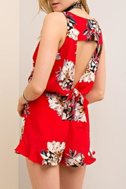 Entro Red Floral Romper - Other