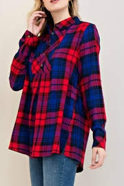 Entro Red Plaid Top - Product Mini Image