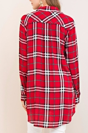 Entro Red Plaid Top - Back cropped
