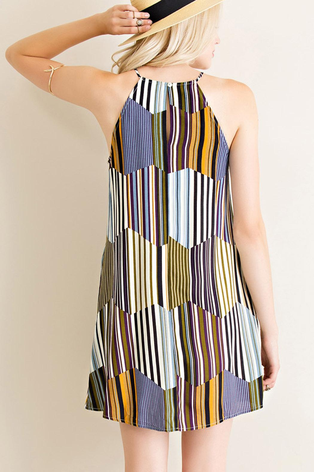 Entro Retro Vibes Dress - Front Full Image