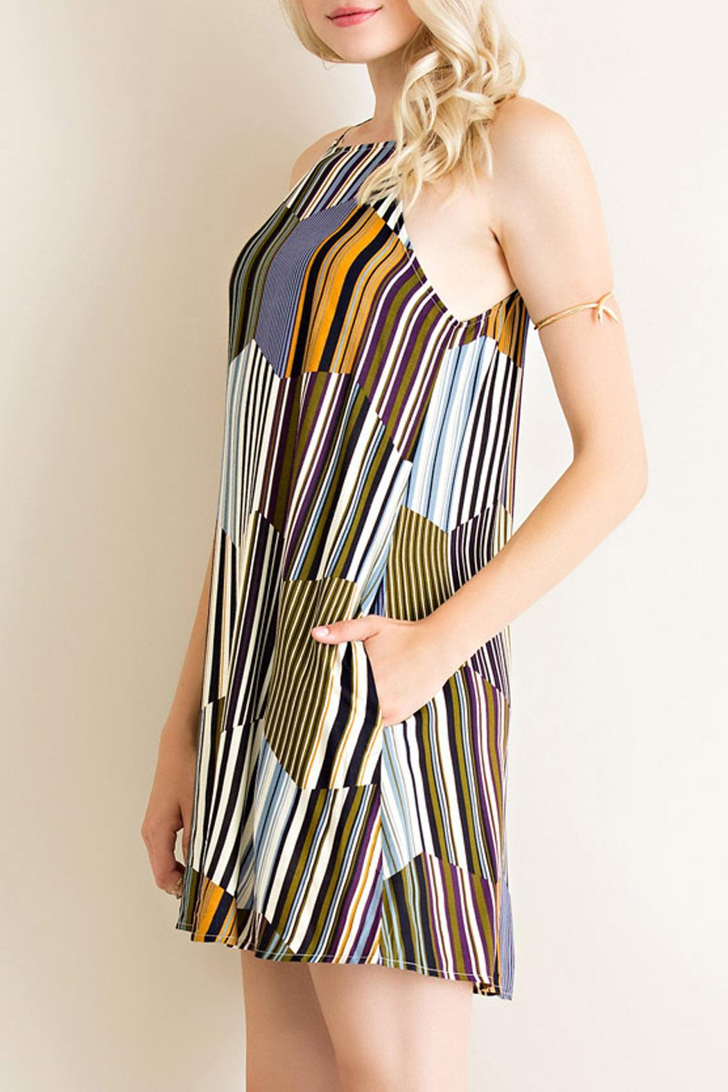 Entro Retro Vibes Dress - Side Cropped Image