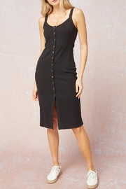 Entro Ribbed Button Front Dress - Product Mini Image