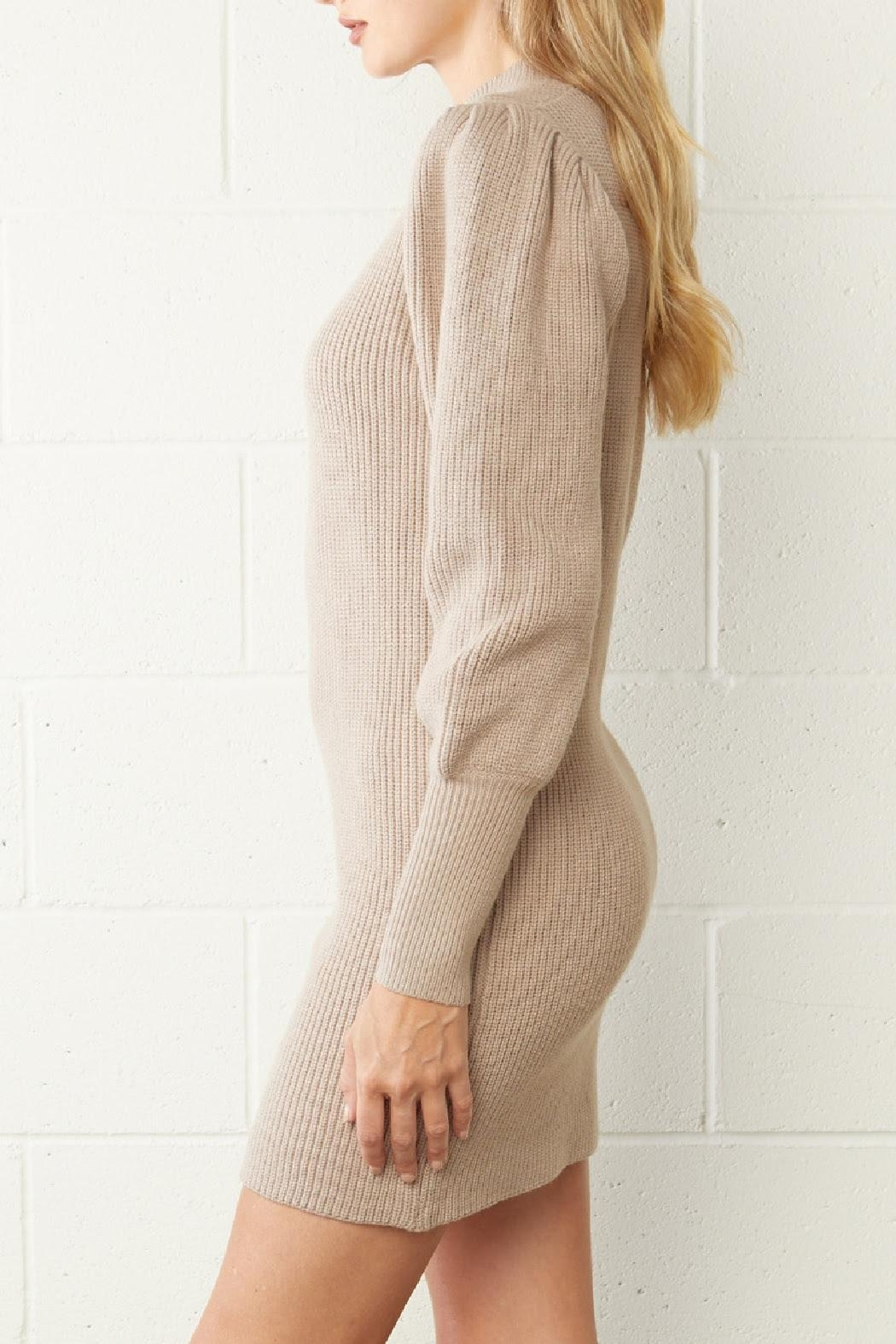 Entro Ribbed Sweater Dress - Side Cropped Image
