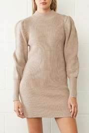 Entro Ribbed Sweater Dress - Front full body