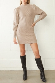 Entro Ribbed Sweater Dress - Front cropped