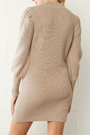 Entro Ribbed Sweater Dress - Back cropped