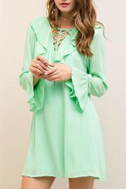Entro Ruffle Collar Dress - Product Mini Image