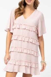 Entro Ruffle Detail Dress - Front full body