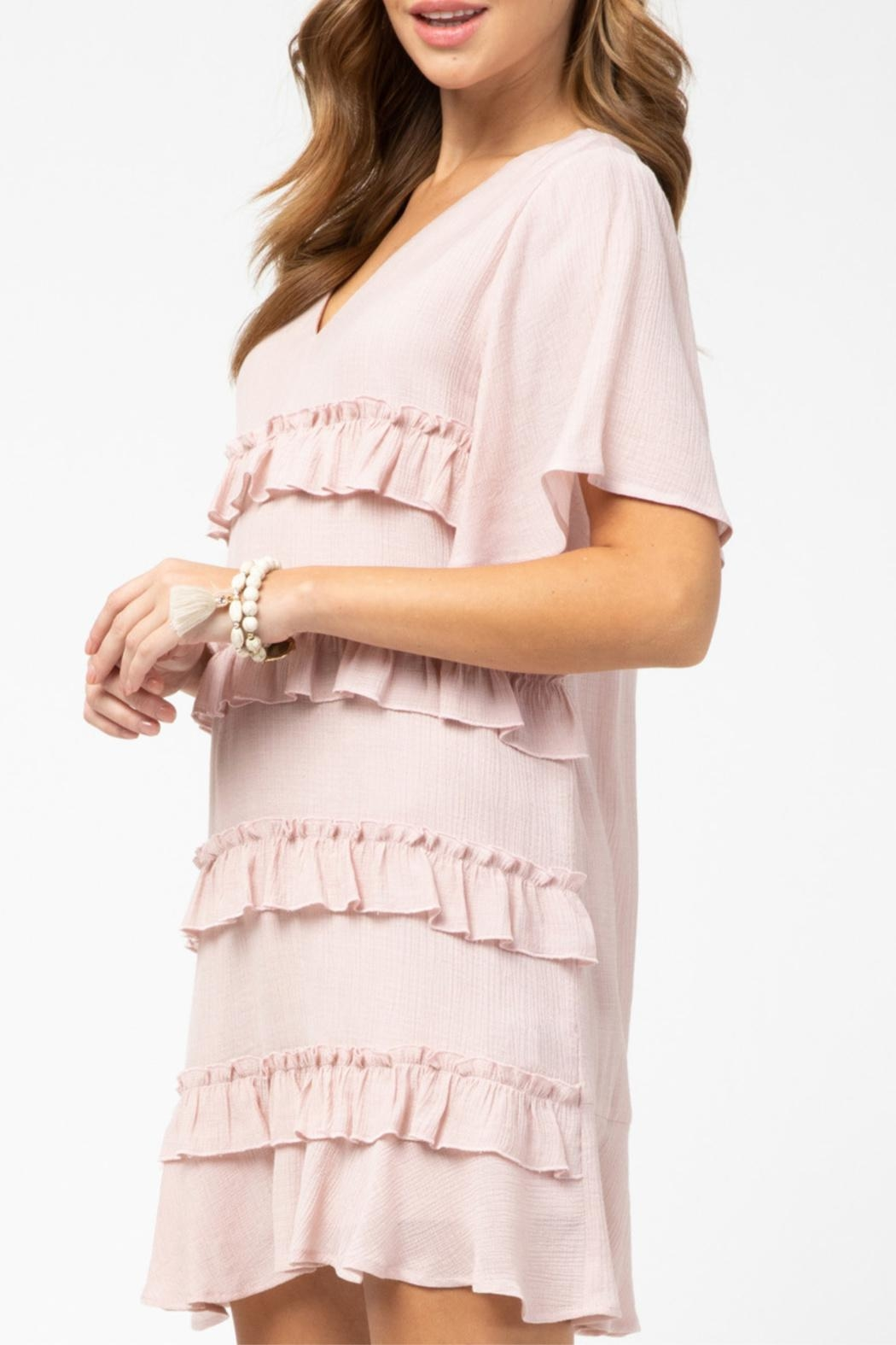 Entro Ruffle Detail Dress - Side Cropped Image