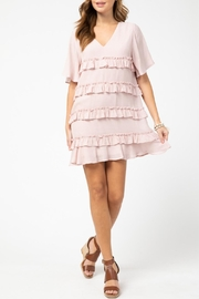 Entro Ruffle Detail Dress - Front cropped