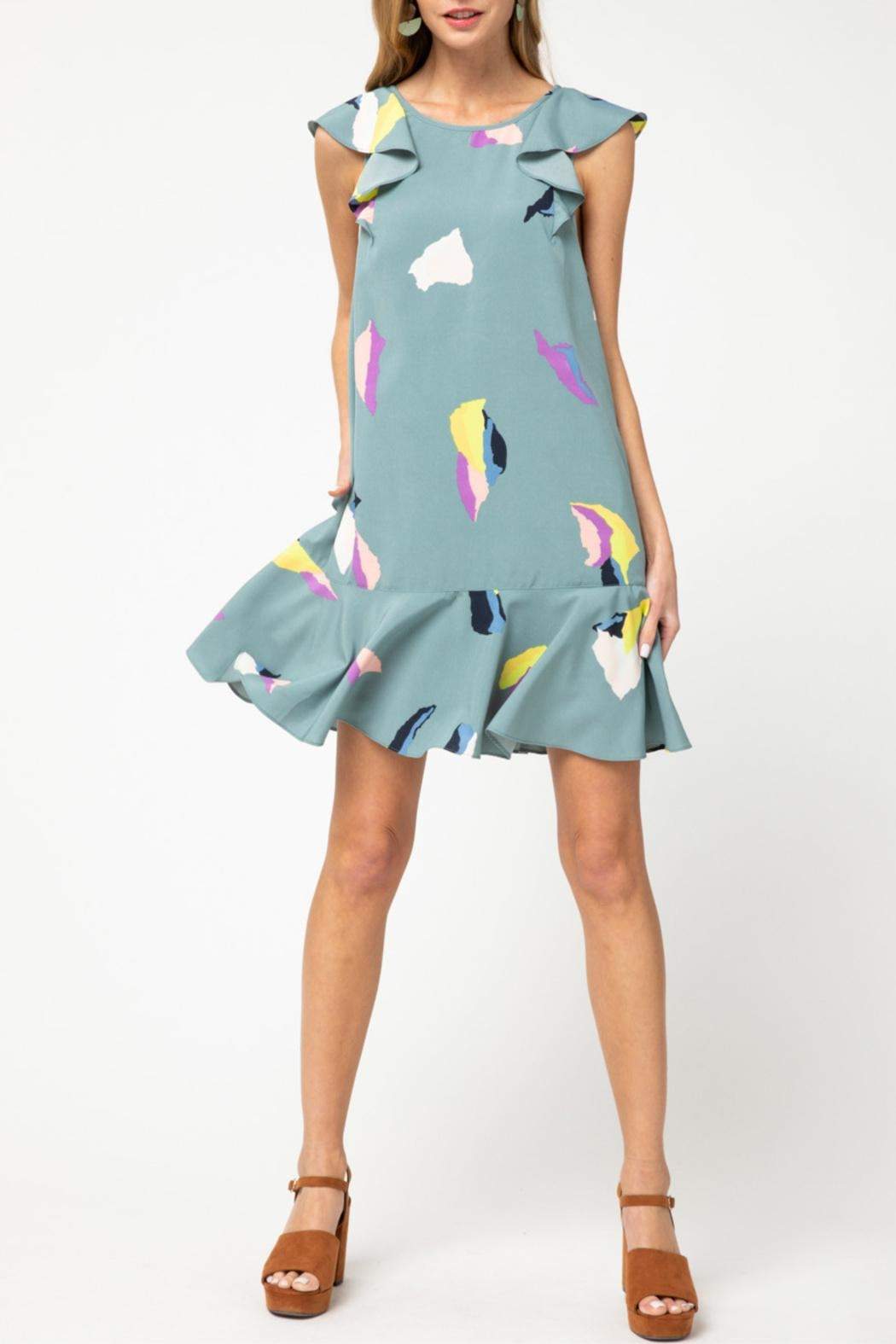 Entro Ruffle Detail Dress - Front Cropped Image