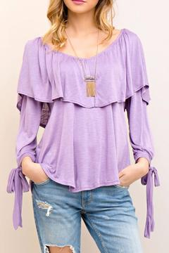 Shoptiques Product: Ruffle Lilac Top