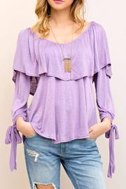 Entro Ruffle Lilac Top - Product Mini Image