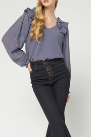 Entro Ruffled Shoulder Top - Front cropped