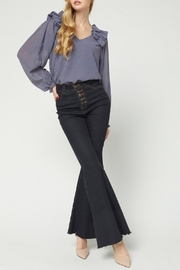 Entro Ruffled Shoulder Top - Front full body