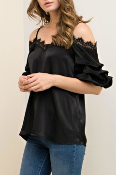Entro Satin Lace Camisole Top - Alternate List Image