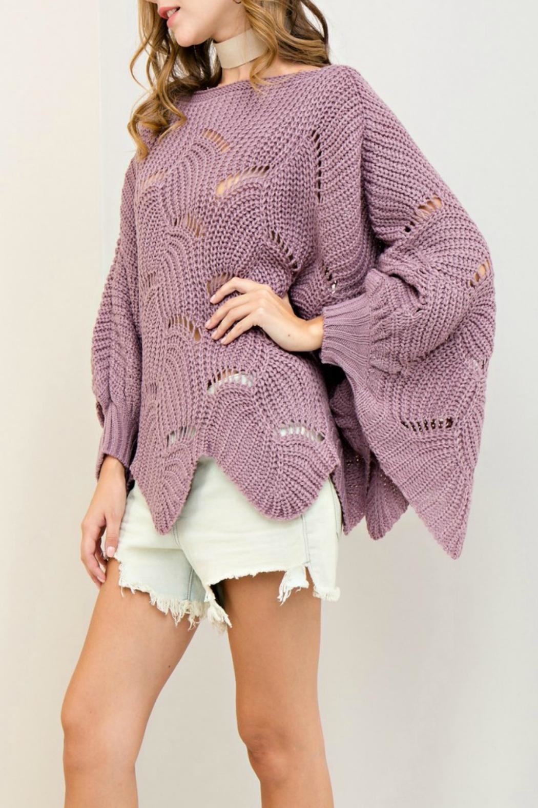 Entro Scalloped Edge Sweater - Front Full Image