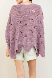 Entro Scalloped Edge Sweater - Back cropped