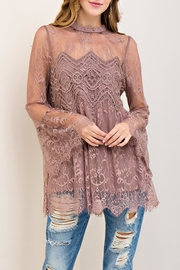 Entro Scalloped Lace Top - Front cropped