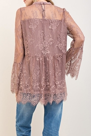 Entro Scalloped Lace Top - Front full body