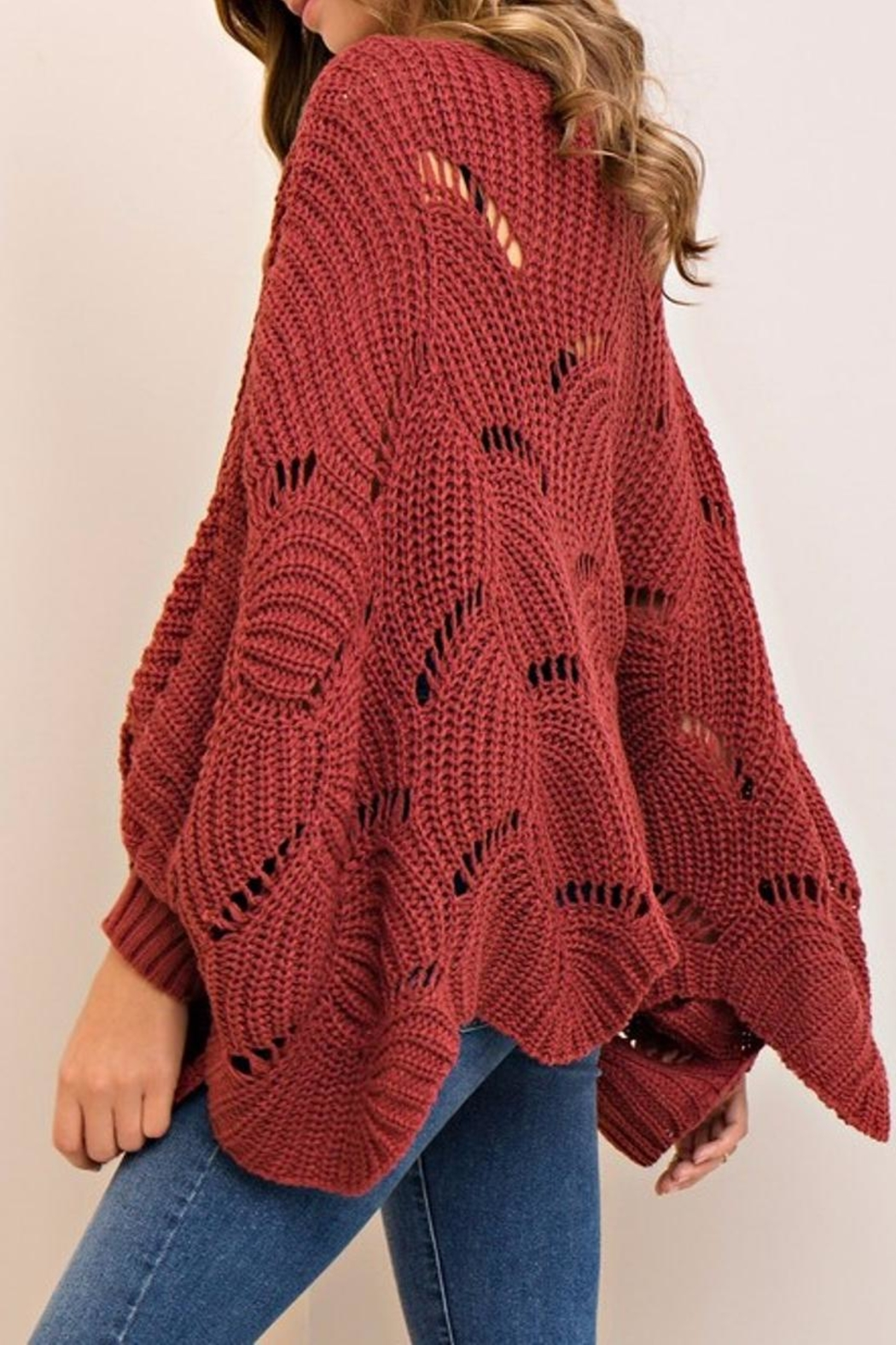Entro Scalloped Sweater - Front Full Image