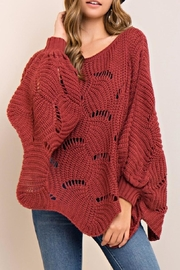 Entro Scalloped Sweater - Side cropped
