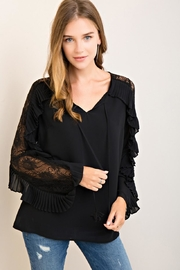 Entro Self-Tie Neckline Top - Product Mini Image