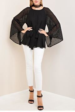 Entro Self-Tie Woven Top - Product List Image