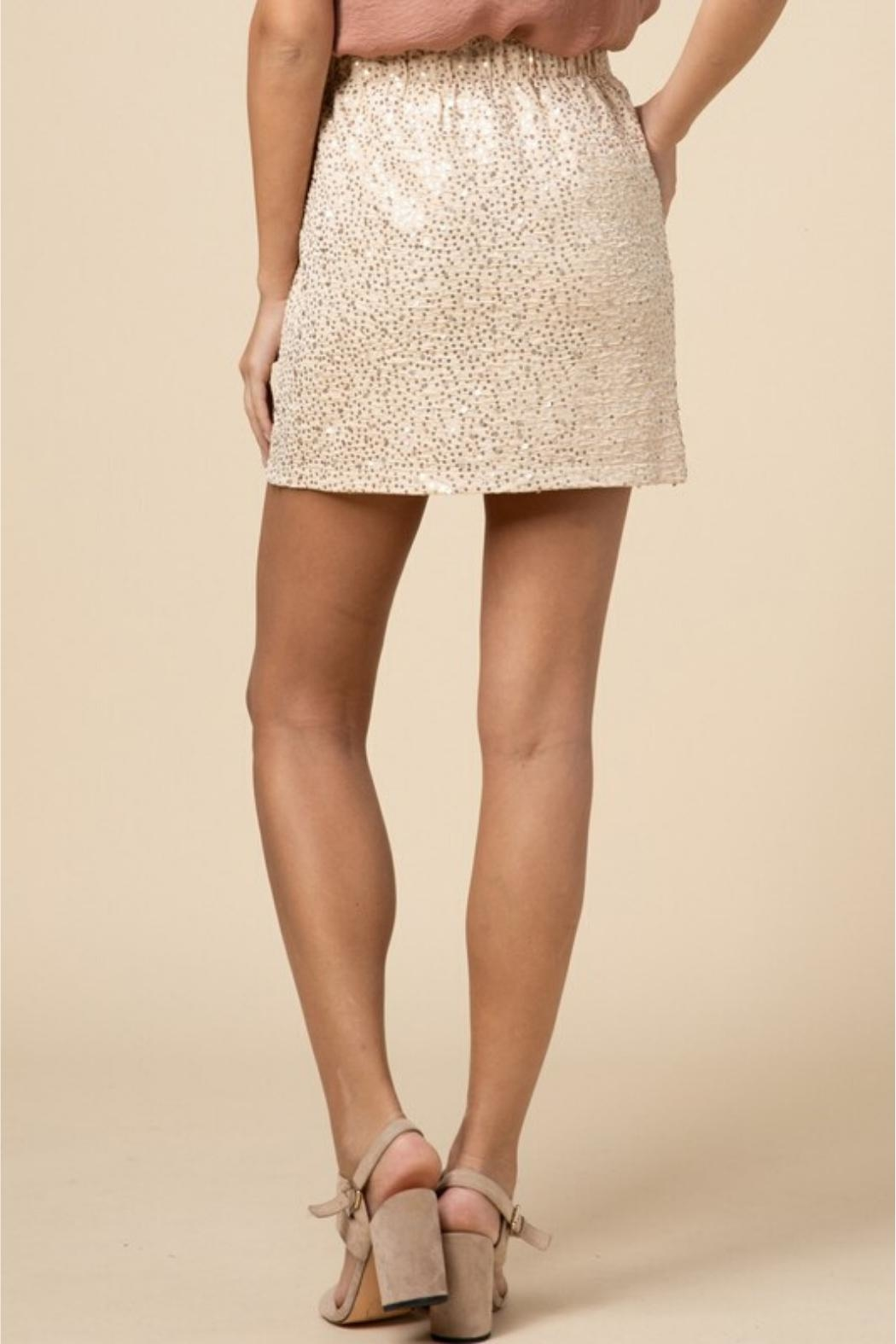 Entro Sequin Pull-On Skirt - Side Cropped Image