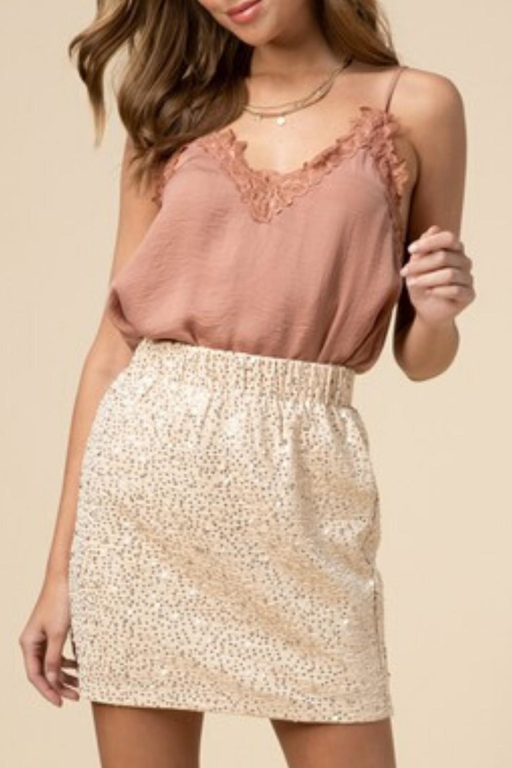 Entro Sequin Pull-On Skirt - Main Image