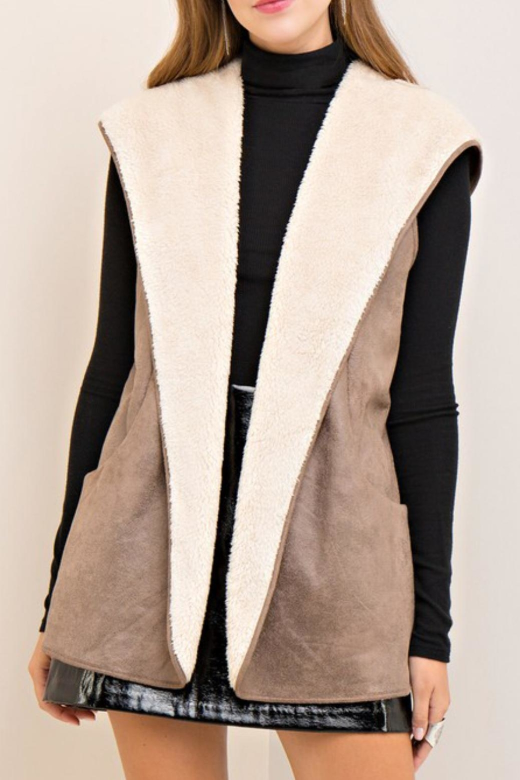 Entro Shearling Hooded Vest - Main Image