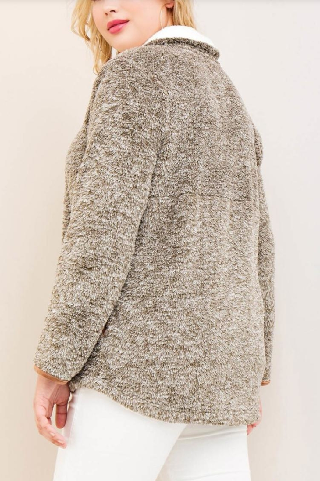 Entro Sherpa Fleece Pullover - Front Full Image