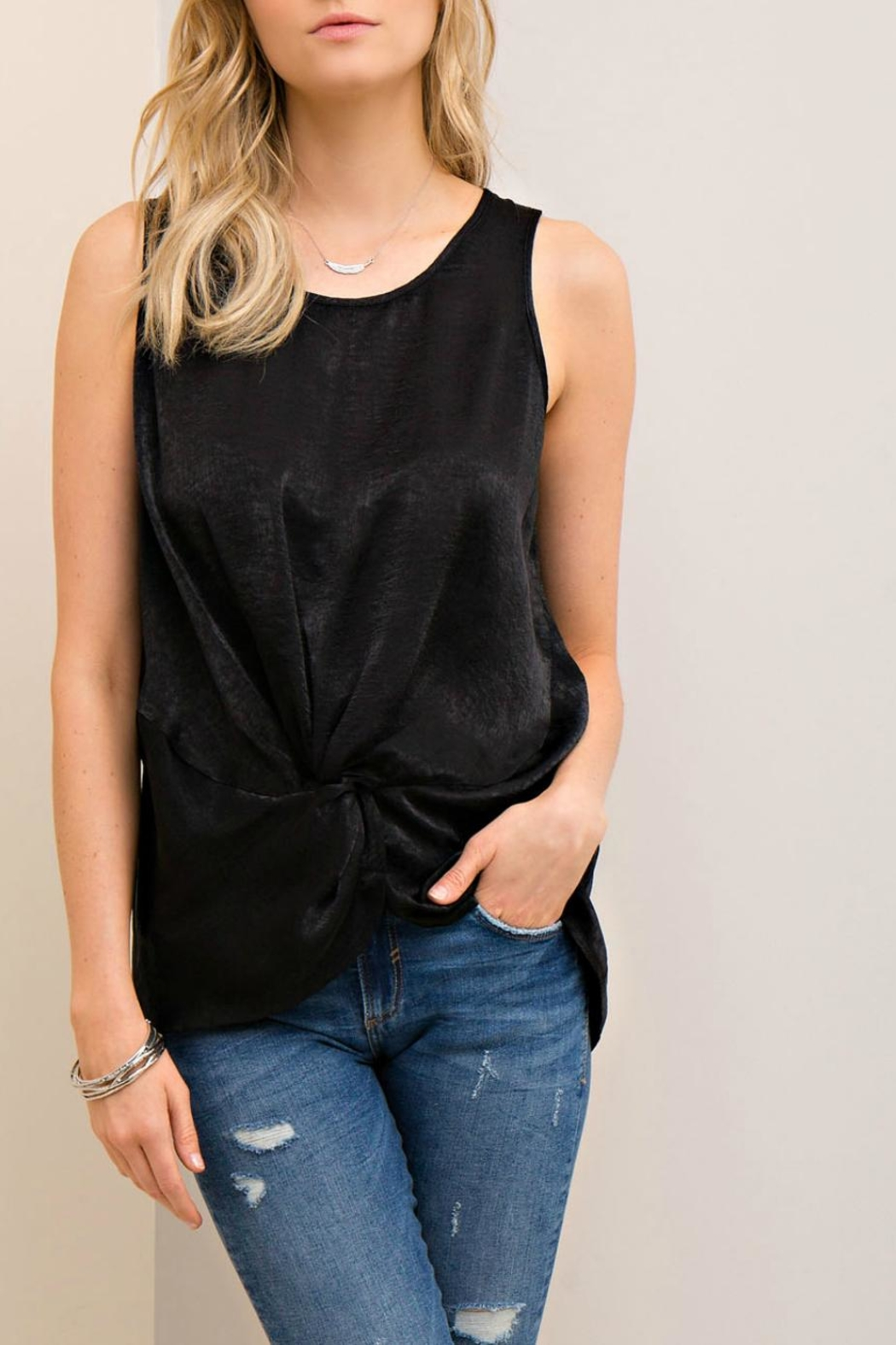 Entro Silky Knotted Top - Main Image