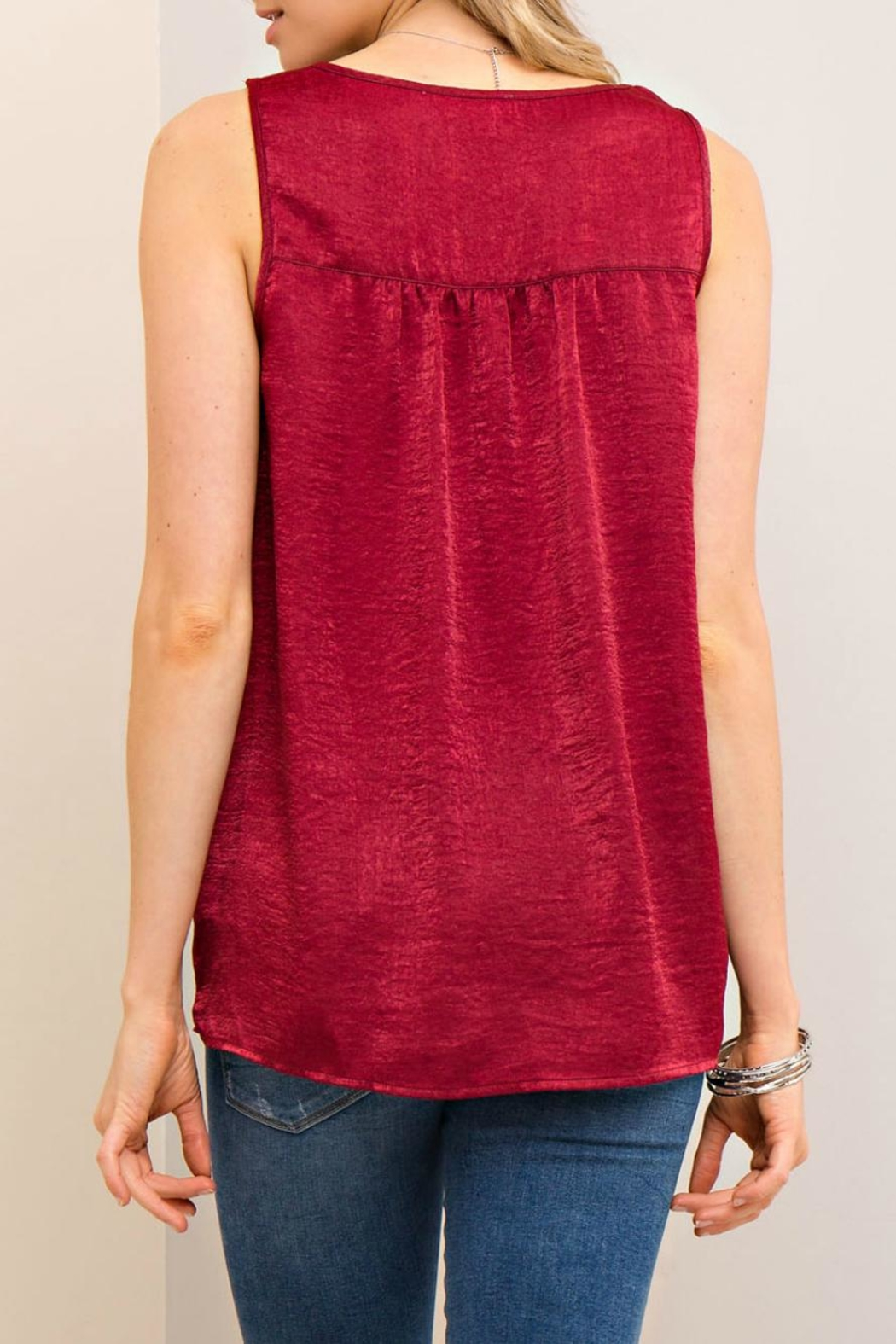 Entro Silky Knotted Top - Front Full Image