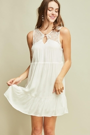 Entro Sleeveless Baby Doll Dress Cutout Details - Front cropped