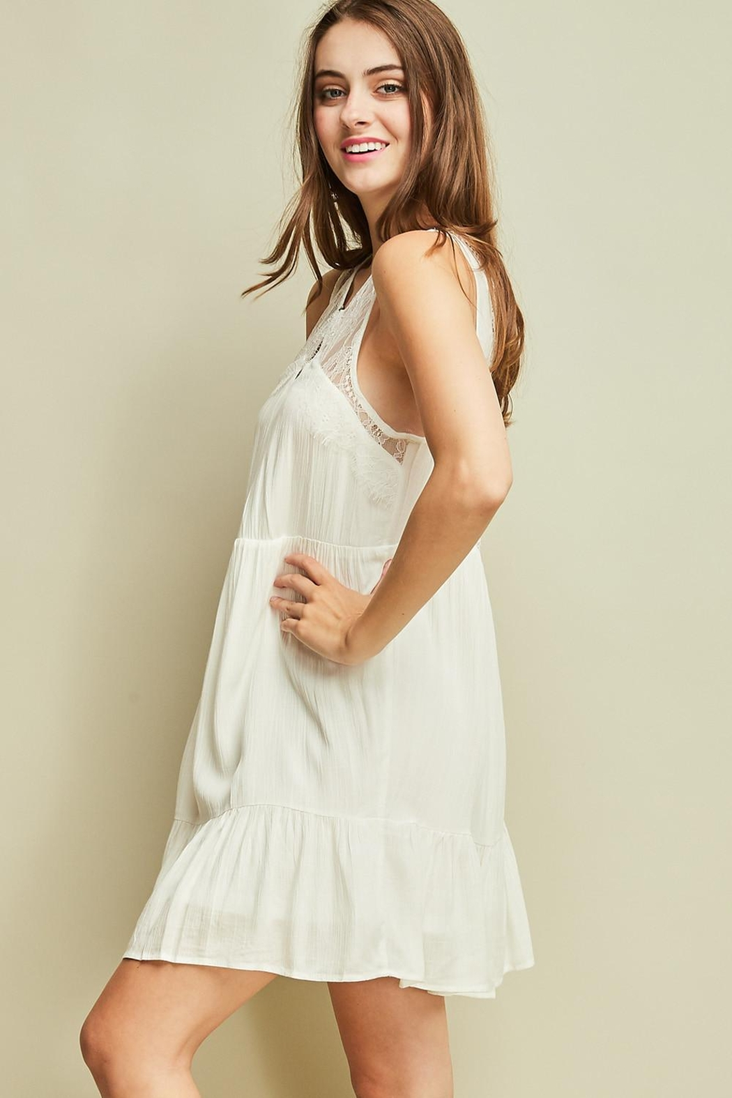 Entro Sleeveless Baby Doll Dress Cutout Details - Side Cropped Image