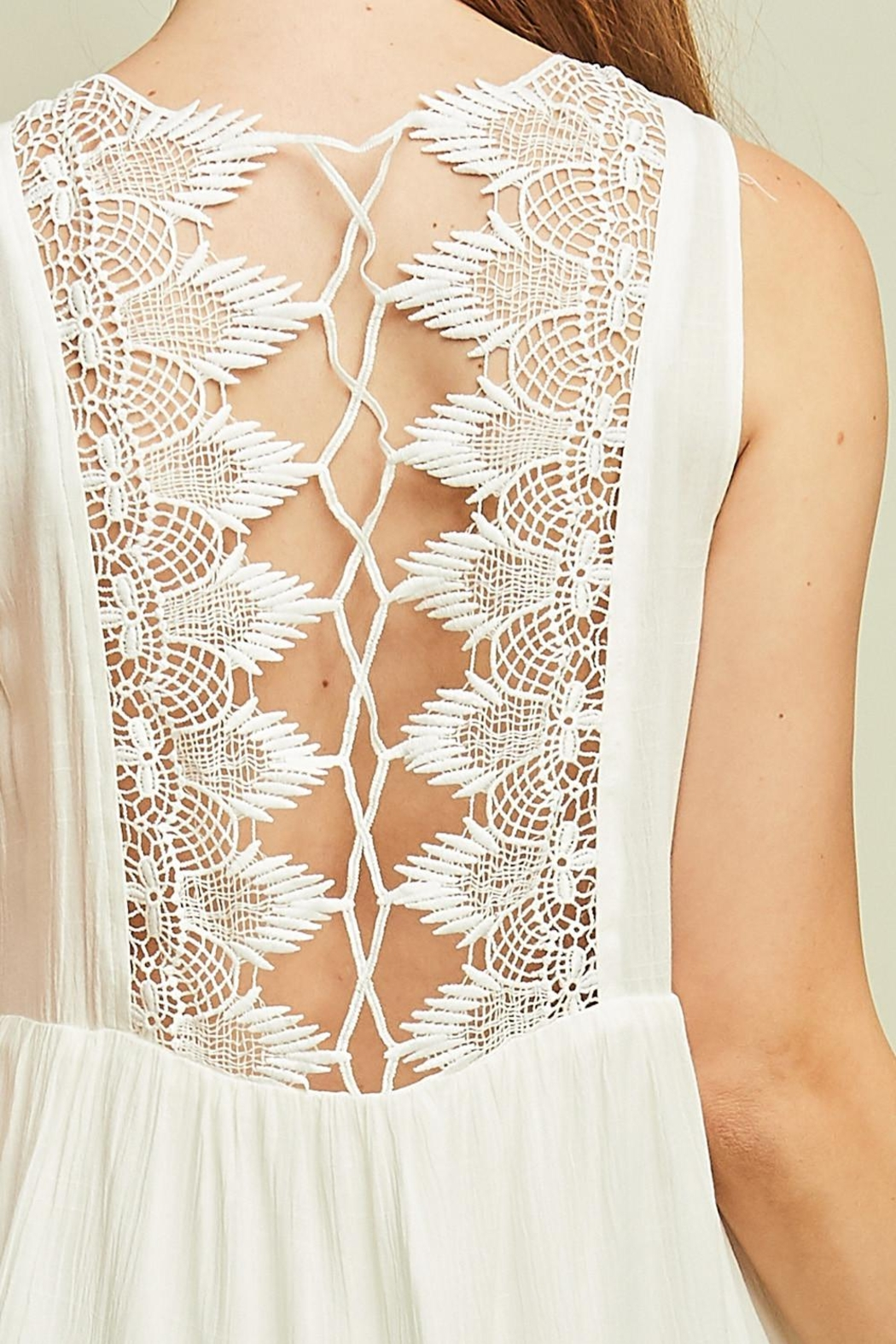 Entro Sleeveless Baby Doll Dress Cutout Details - Front Full Image