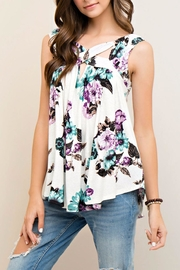 Entro Sleeveless Floral Top - Product Mini Image
