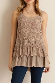 Entro Sleeveless Ruffled Top - Product Mini Image