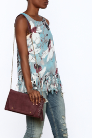 Entro Blue Floral Sleeveless Top - Front cropped