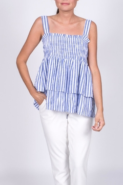 Shoptiques Product: Smocked Striped Top
