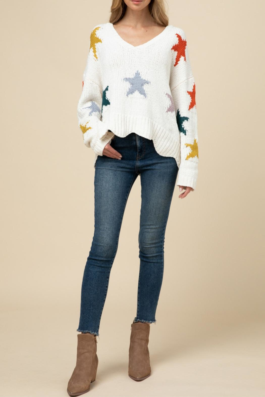 Entro Soft Star Sweater - Front Full Image